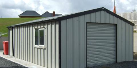 Steel sheds Dublin - insulated steel garage