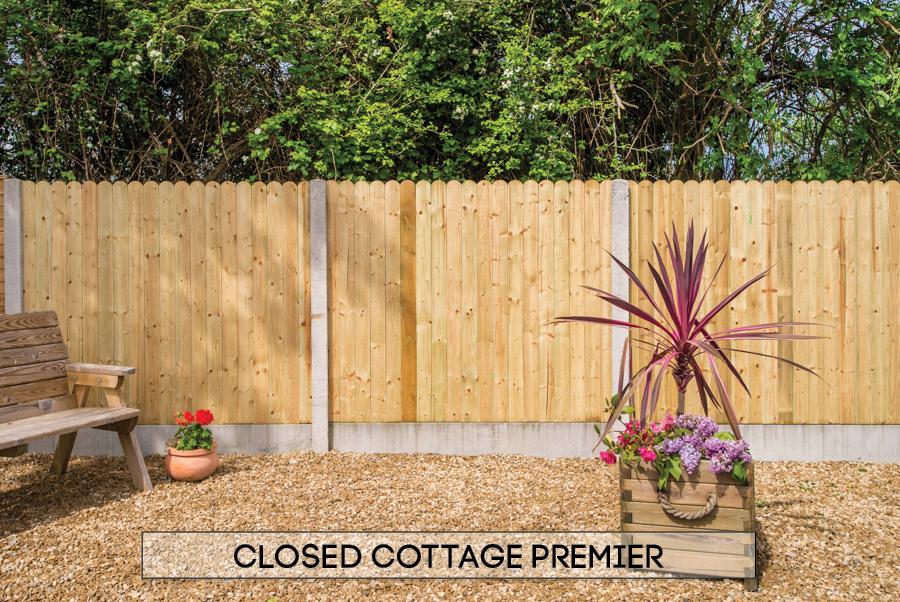 Garden fencing Dublin - Closed Cottage Premier