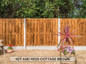 Garden fencing Dublin - Hit & Miss Cottage Brown