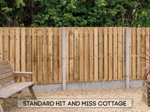 Garden fencing Dublin - Hit & Miss Cottage Standard