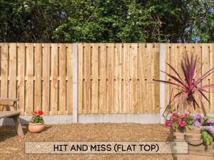 Garden fencing Dublin - Hit & Miss Flat Top