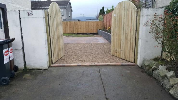 Timber gates in Dublin