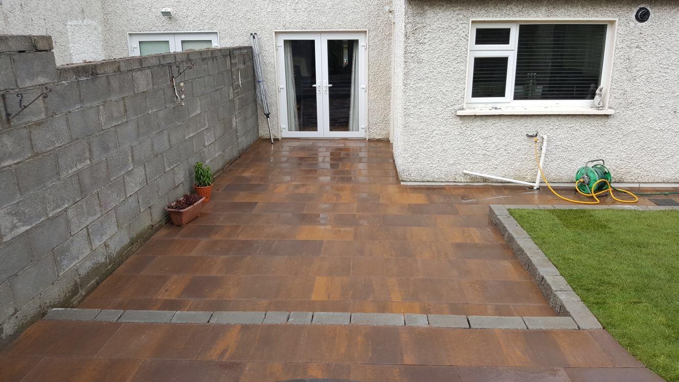 Patios cleaning services in dublin apco garden design for Garden design dublin