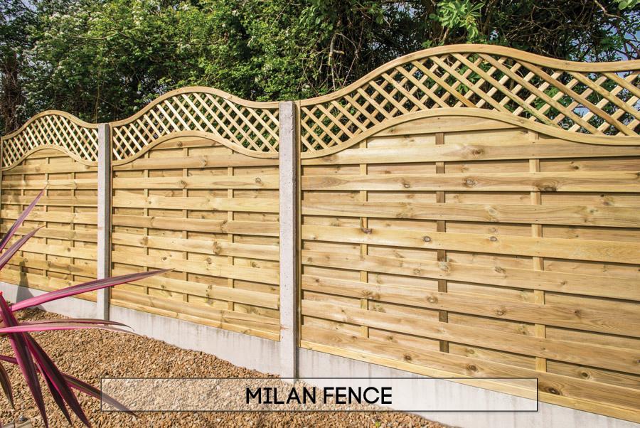 Garden fencing Dublin - Milan