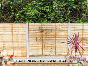 Garden fencing Dublin - Pressure Treated Lap