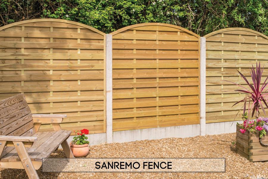 Garden fencing Dublin - San Remo fence