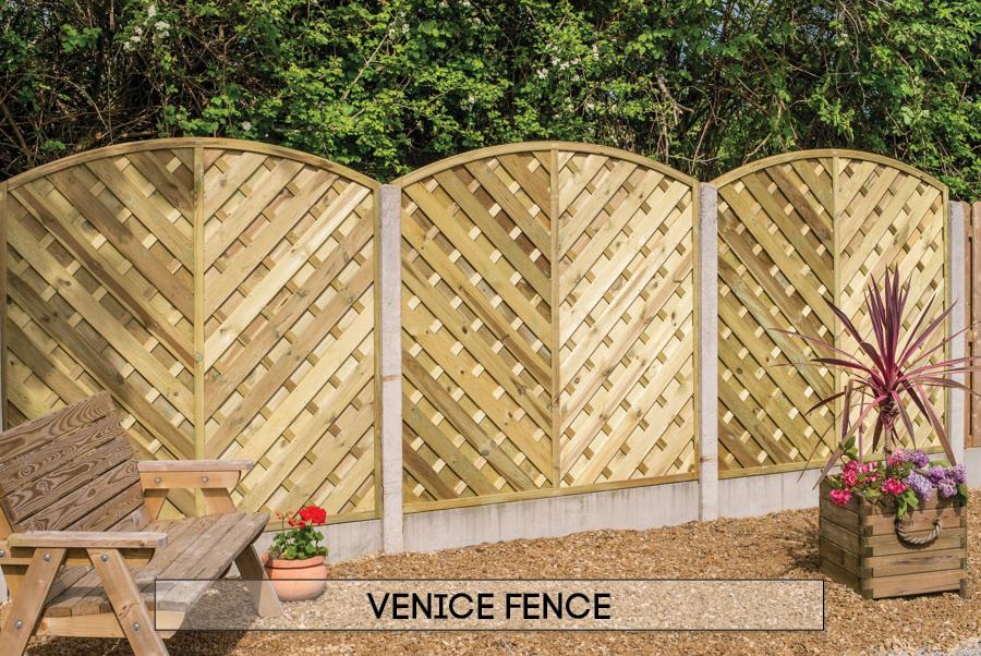 Garden fencing Dublin - Venice fence
