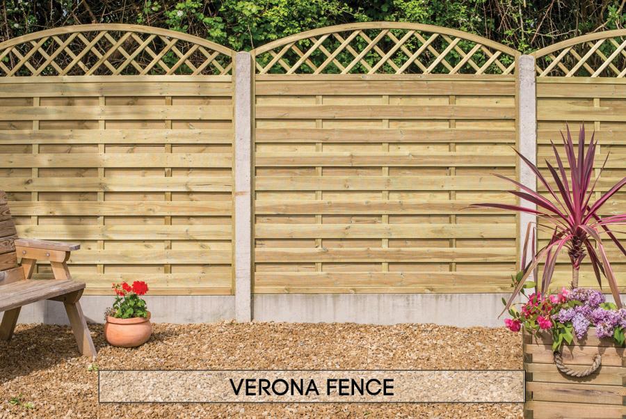 Garden fencing Dublin - Verona Diamond