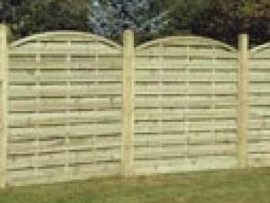 Garden fencing Dublin - Arched Horizontal