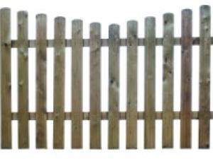 Garden fencing Dublin - concave cottage fencing